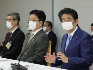 安倍总理在新冠病毒感染症对策本部会议中发言